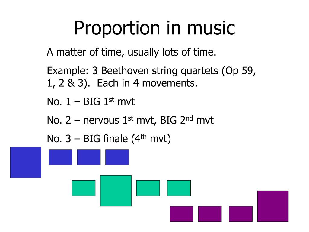 Proportion in music
