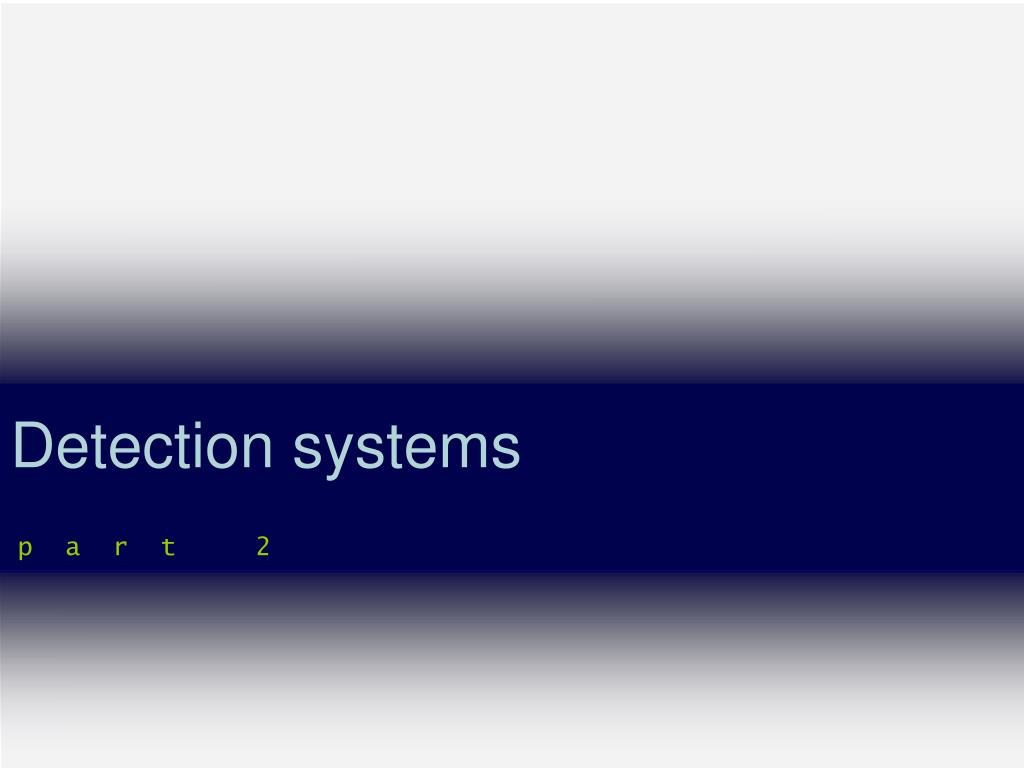 detection systems l.