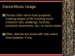 dance music usage