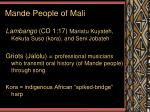 mande people of mali