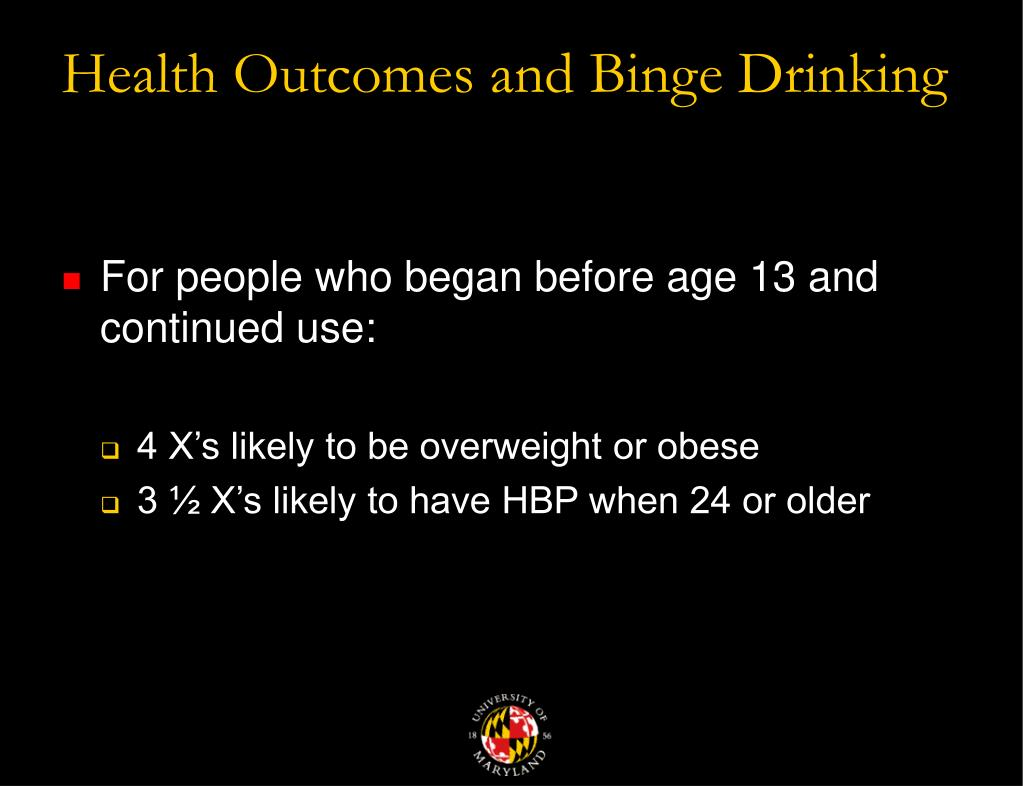 Health Outcomes and Binge Drinking