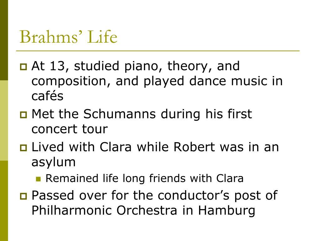 Brahms' Life