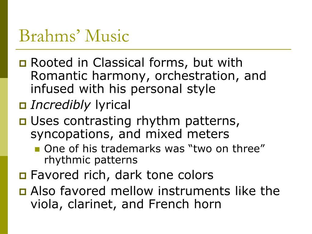 Brahms' Music