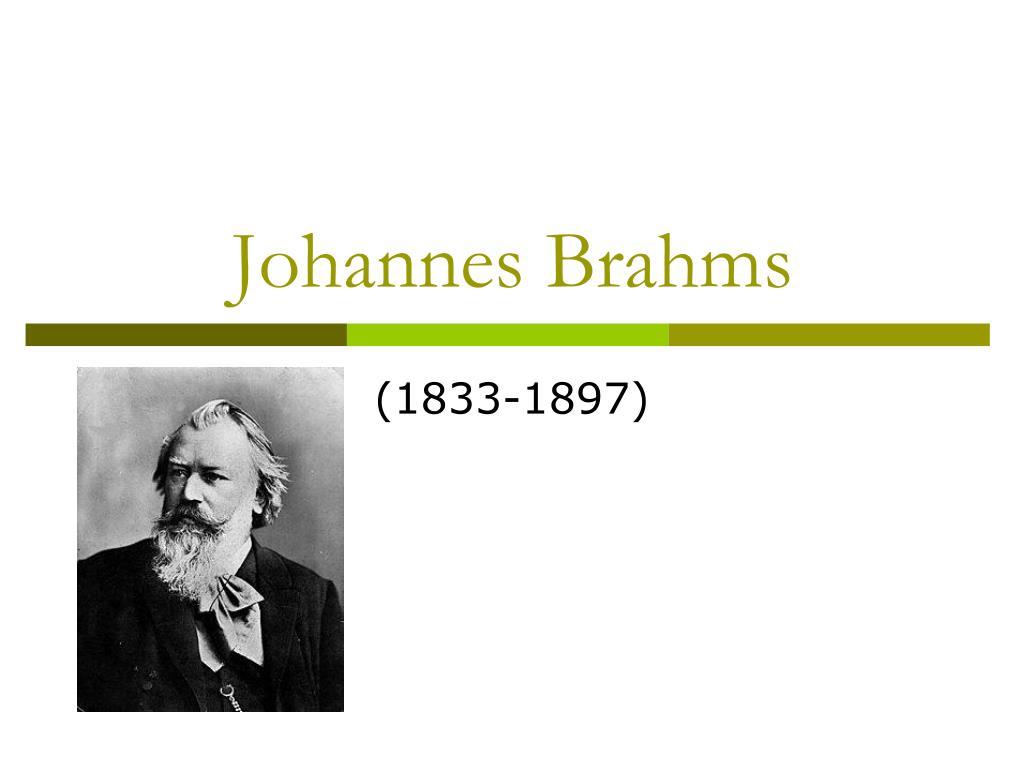 johannes brahms l.