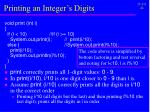printing an integer s digits