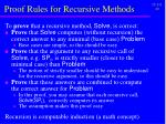 proof rules for recursive methods