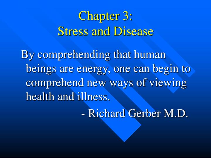 chapter 3 stress and disease n.
