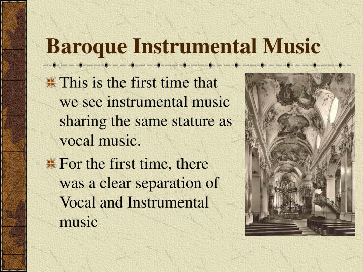 baroque instrumental music n.