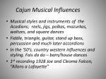 cajun musical influences