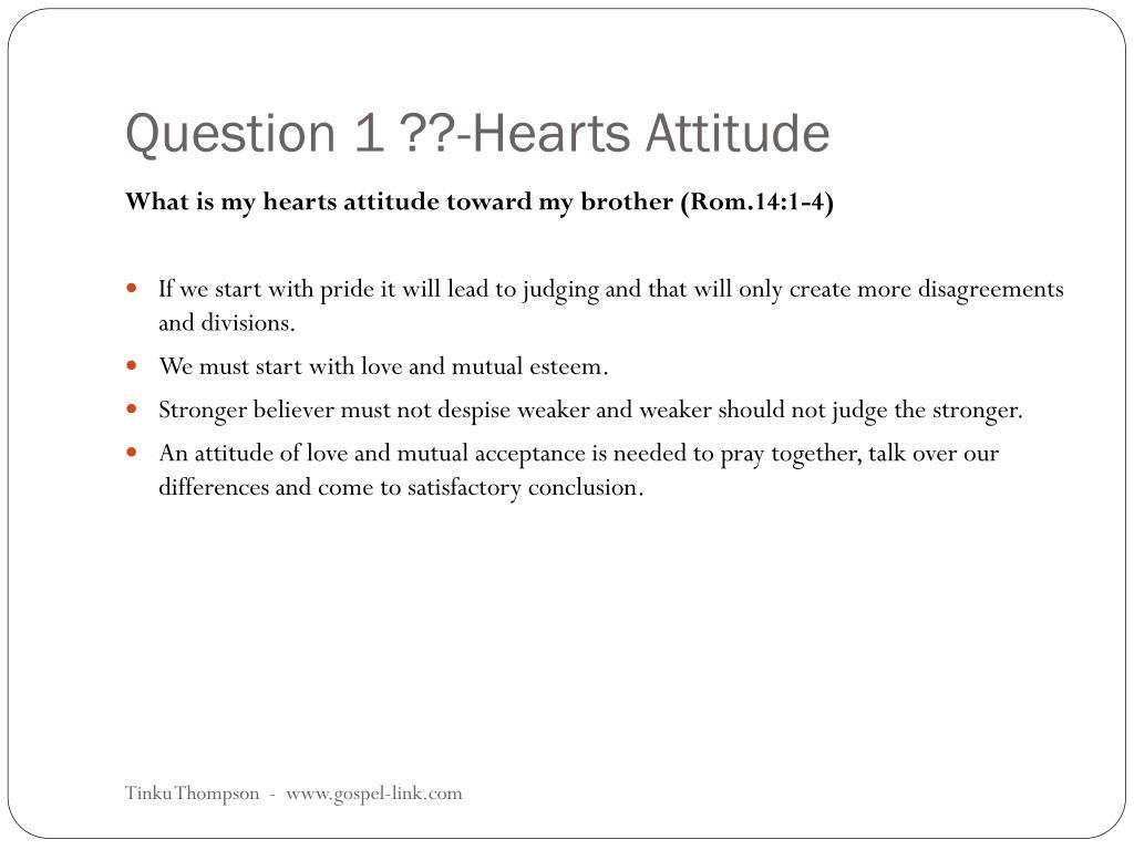 Question 1 ??-Hearts Attitude