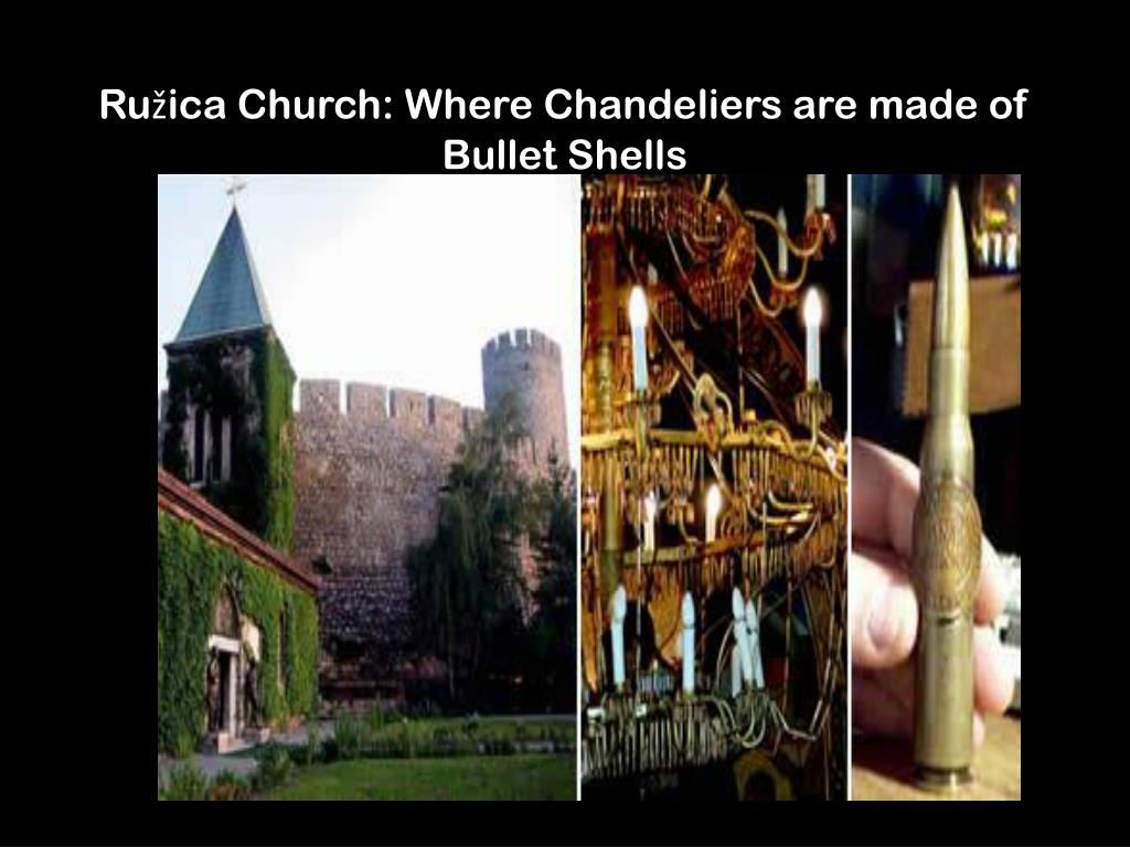 Ružica Church: Where Chandeliers are made of Bullet Shells
