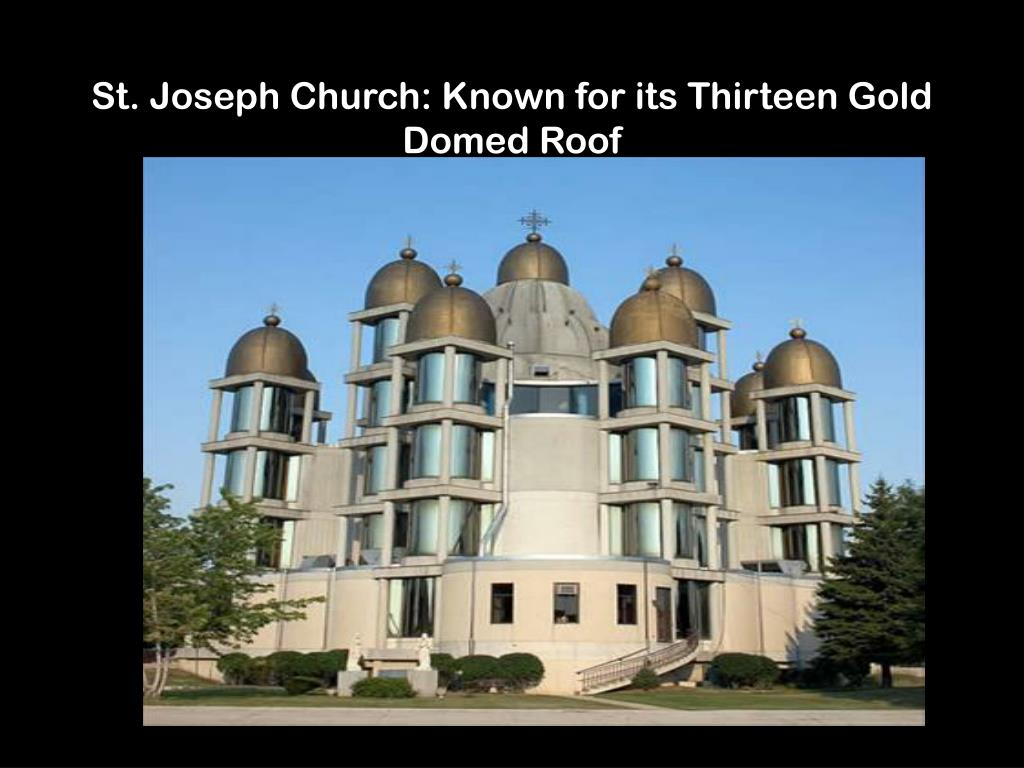 St. Joseph Church: Known for its Thirteen Gold Domed Roof