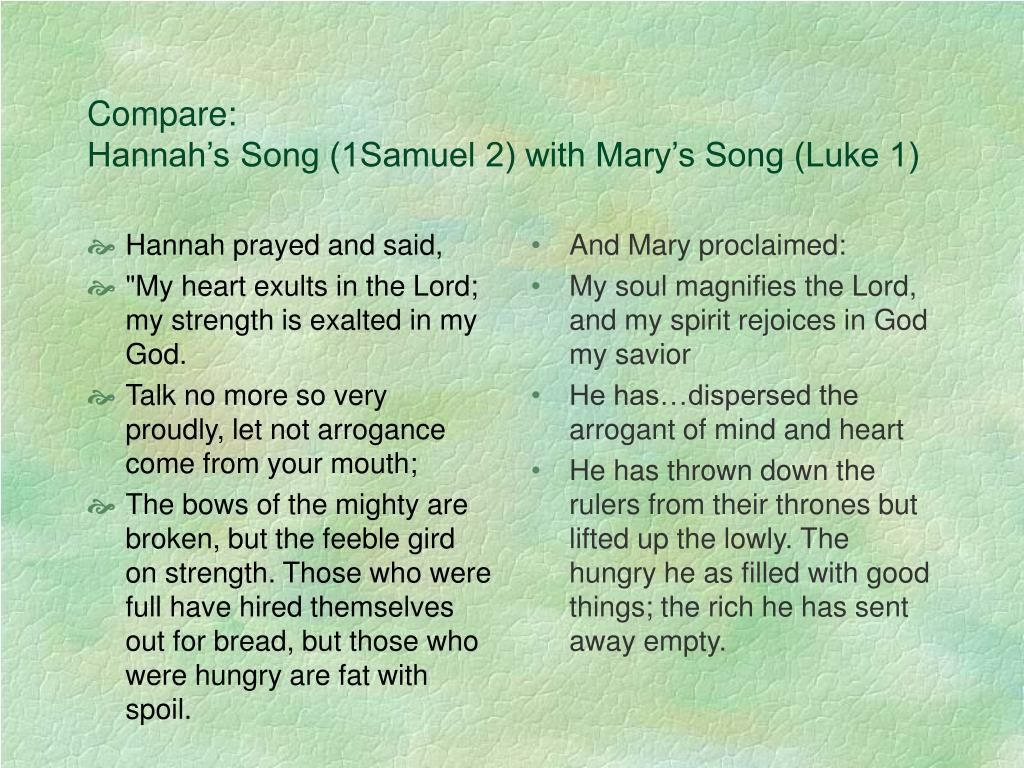 Hannah prayed and said,