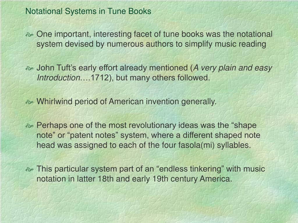 Notational Systems in Tune Books