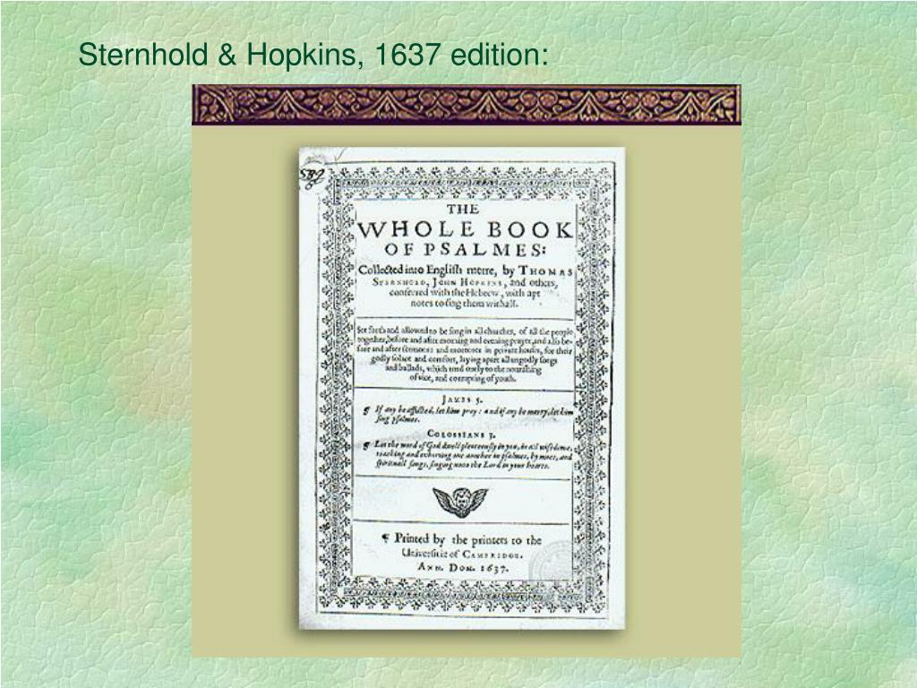 Sternhold & Hopkins, 1637 edition: