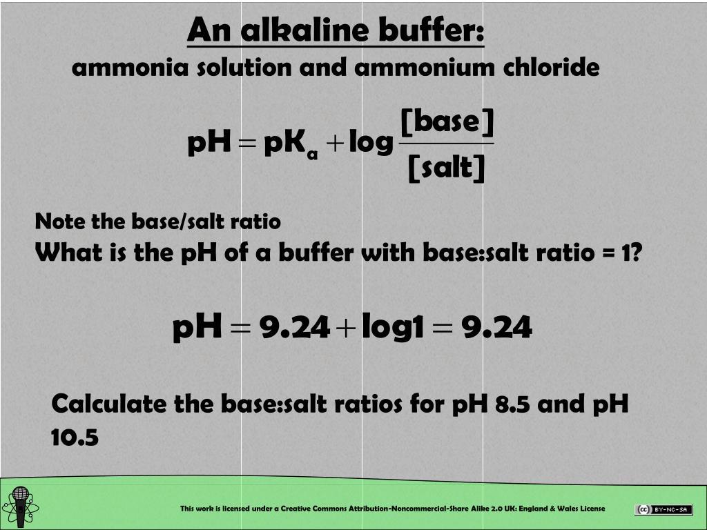 An alkaline buffer: