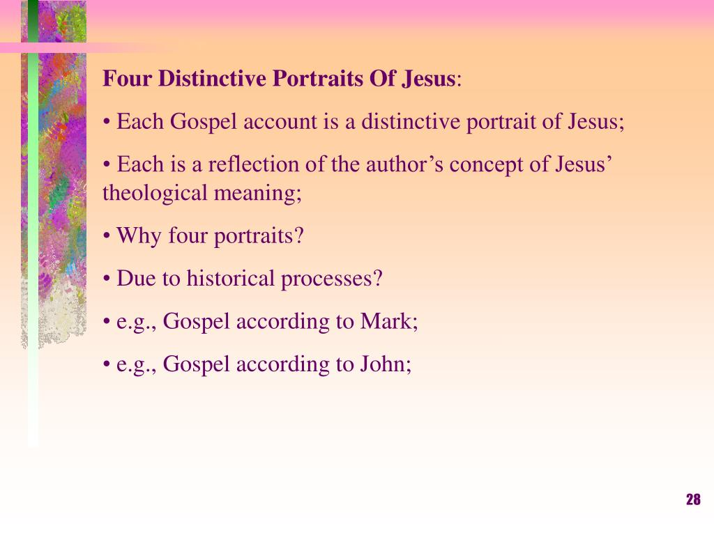 Four Distinctive Portraits Of Jesus