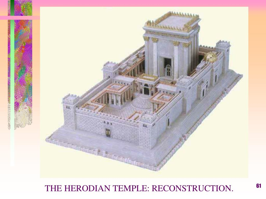 THE HERODIAN TEMPLE: RECONSTRUCTION.