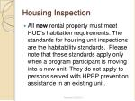 housing inspection