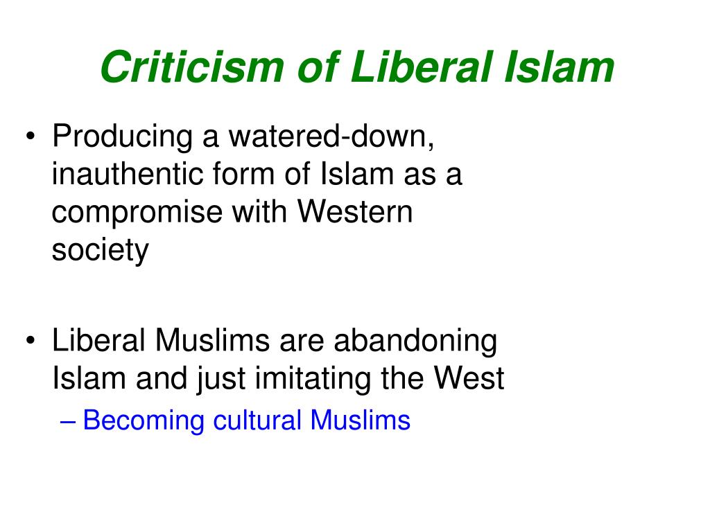 Criticism of Liberal Islam