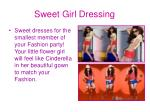 sweet girl dressing