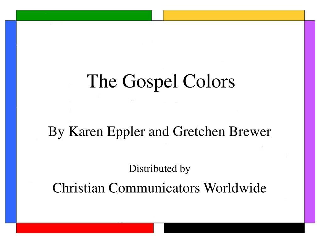 the gospel colors l.
