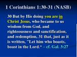1 corinthians 1 30 31 nasb