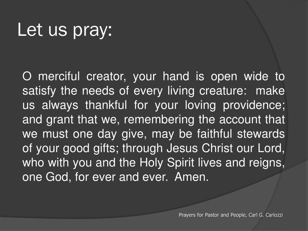 Let us pray: