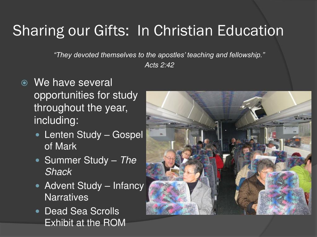 Sharing our Gifts:  In Christian Education