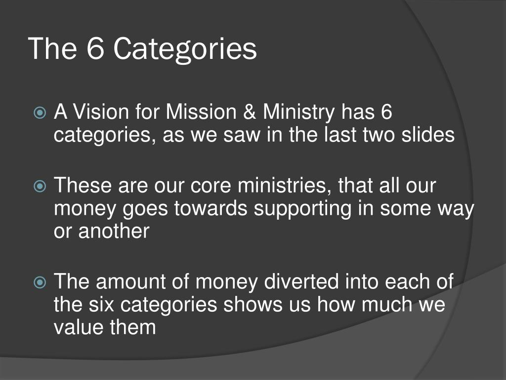 The 6 Categories