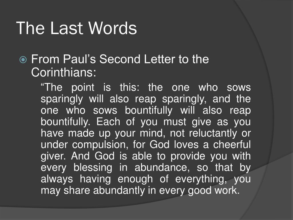 The Last Words