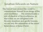 jonathan edwards on nature