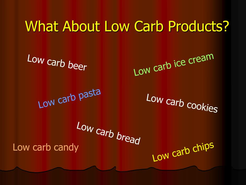 What About Low Carb Products?