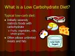 what is a low carbohydrate diet