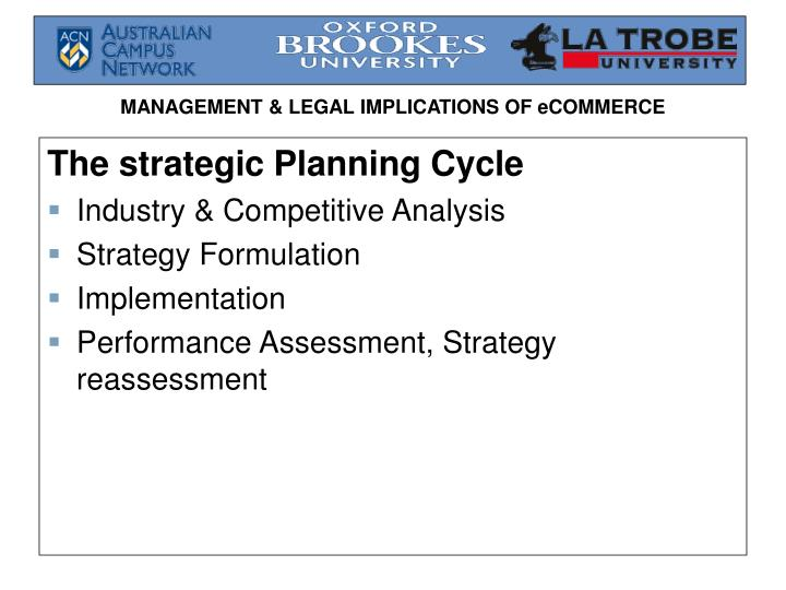 The strategic Planning Cycle