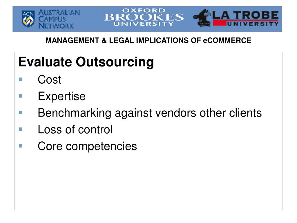 Evaluate Outsourcing