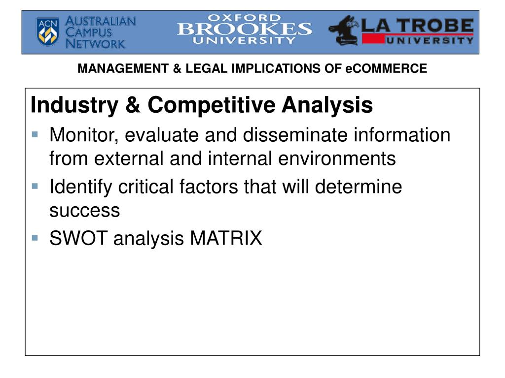 Industry & Competitive Analysis