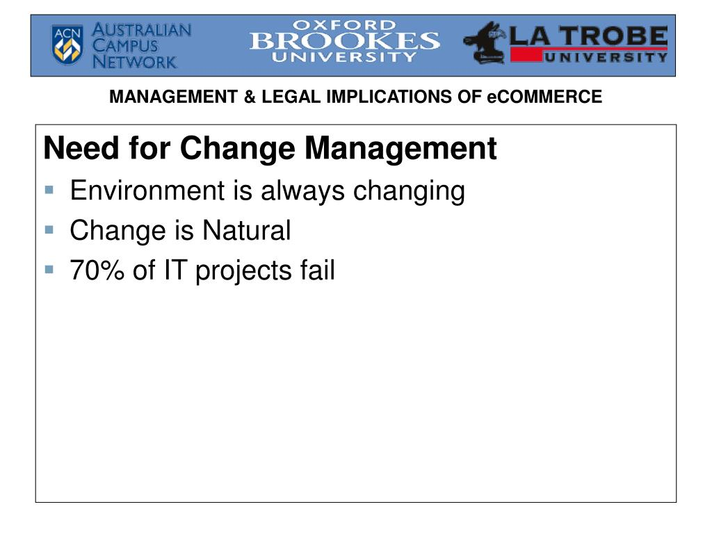 Need for Change Management
