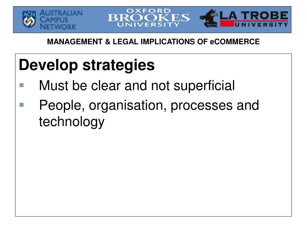 Develop strategies