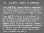 ex coptic gospel of thomas44