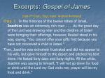 excerpts gospel of james