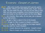 excerpts gospel of james24