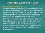 excerpts gospel of peter