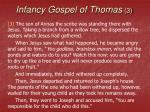 infancy gospel of thomas 3