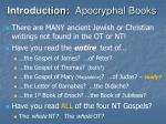 introduction apocryphal books