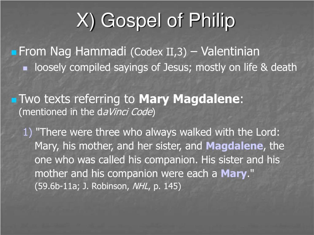 X) Gospel of Philip