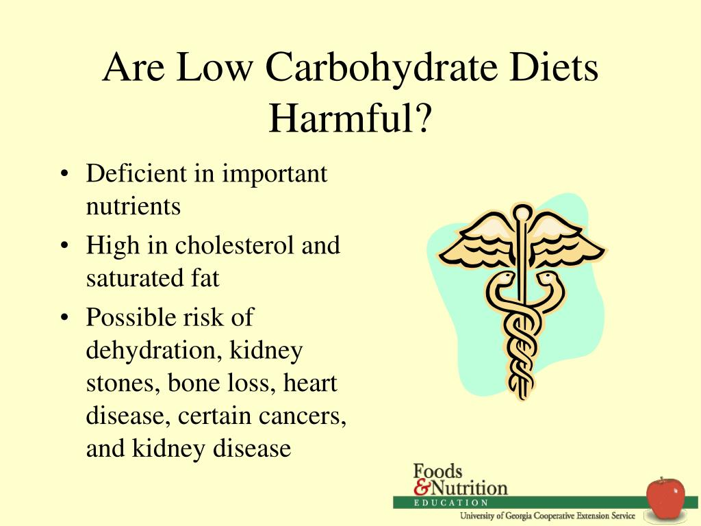Are Low Carbohydrate Diets Harmful?