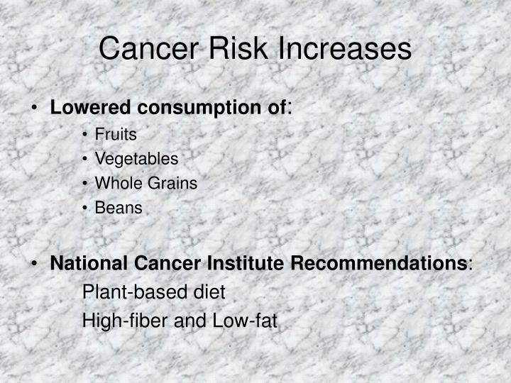 Cancer risk increases
