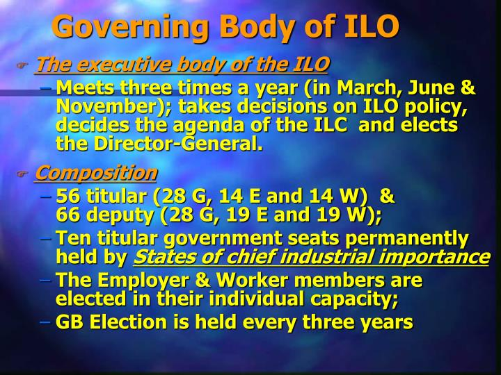 Governing Body of ILO