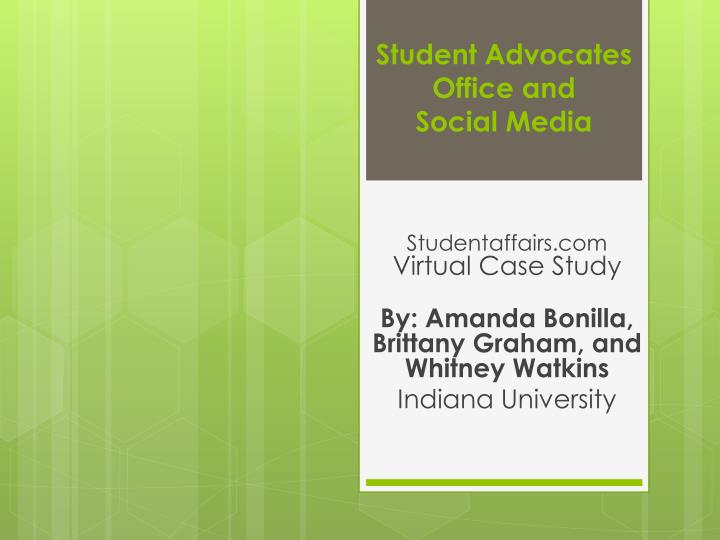 student advocates office and social media n.